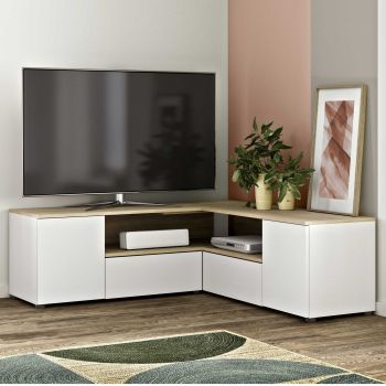 Tv-meubel Cleo - wit/eik