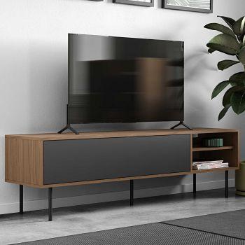 Tv-meubel Watt - walnoot/grijs