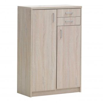 Commode Spacio 2 deuren & 2 laden H 110cm - sonoma eik
