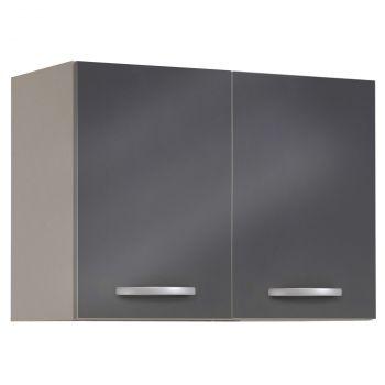Bovenkast Spoon 80 cm - glossy grey