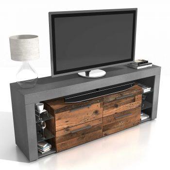 Tv-meubel Vidi 180 cm - donker/verweerd hout