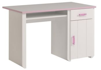 Kinderbureau Biotiful roze/wit