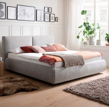 Bed met opbergruimte Celine 180x200 - lichtgrijs (incl. Rimini matras H2+H3)
