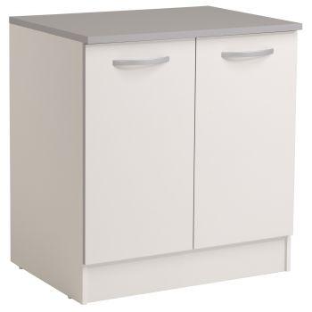 Meuble bas Spott 80 cm avec 2 portes - blanc