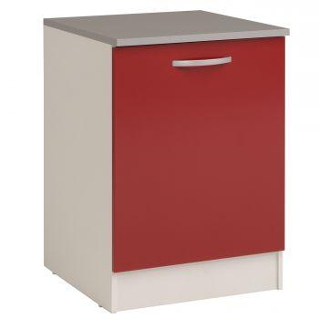 Meuble bas Oke 60 cm avec porte - rouge