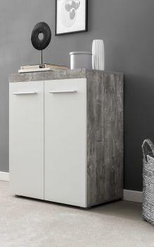 Dressoir Tristan 2 deuren - wit/beton