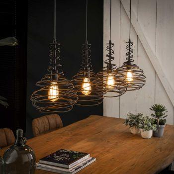 Hanglamp Turn 4 lampen