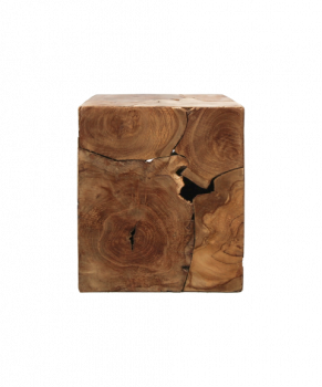 Table d'appoint Curva 30x30cm - teck/cire naturelle