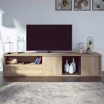Tv-meubel Frame 217cm - lichte eik