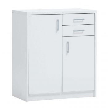 Commode Spacio 2 deuren & 2 laden H 84cm - wit