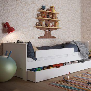 Eenpersoonsbed Alfie 90x200 cm - wit