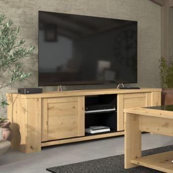 Tv-meubel Borini 152cm met 2 deuren - artisan eik