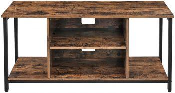Tv-meubel James 110 cm 1 legplank - rustiek bruin/zwart