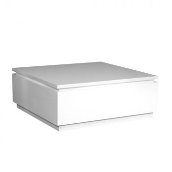 Salontafel Elif 90x90 met verlichting - hoogglans wit