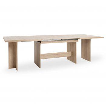 Table à manger extensible Ancona - chêne