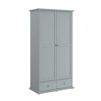 Kledingkast Morgane 2 deuren - grijs
