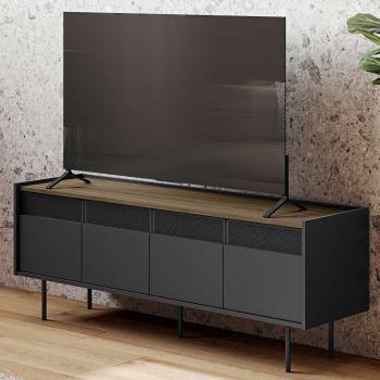 Tv-meubel Radio 160cm - walnoot/zwart