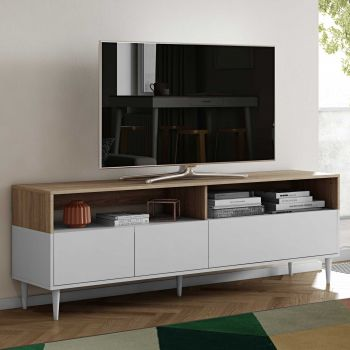 Tv-meubel Horizon - eik/wit