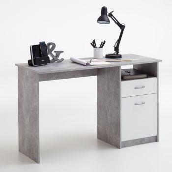 Bureau Jady - beton/wit