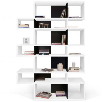 Boekenkast Lisbon 3 - wit/zwart