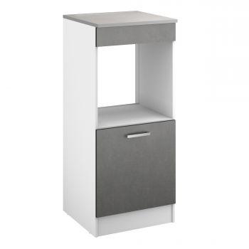 Keukenkast voor oven Eli met deur - beton