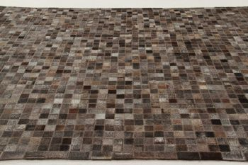 In Leather Patchwork Dk Grey 200X140