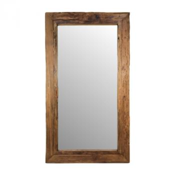 Miroir mural Rustika 140x80cm - bois flotté/teck