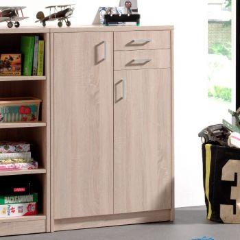 Commode Spacio 110cm 2 portes/2 tiroirs- chêne sonoma