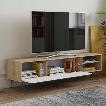 Tv-meubel Jiro - eik/wit