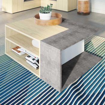 Salontafel Cleo - beton/eik
