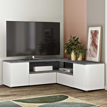 Tv-meubel Cleo - wit/beton