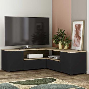 Tv-meubel Cleo - zwart/eik
