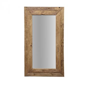 Miroir mural Rustika 140x90cm - bois flotté/teck