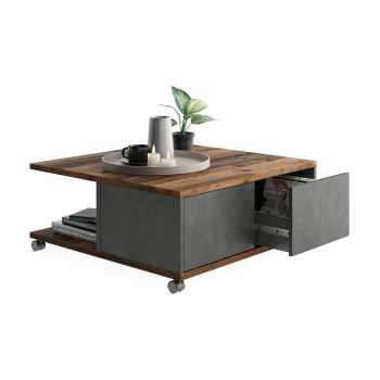 Table basse Twiggy - anthracite/brun