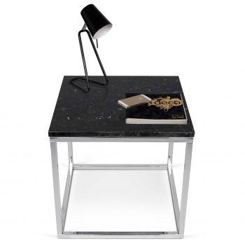 Bijzettafel Prairie - zwart marmer/chroom