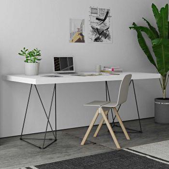Table Multis 160cm - blanc/noir