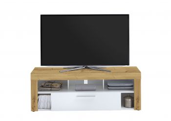 Tv-meubel Vidi 150 cm - oude eik/wit