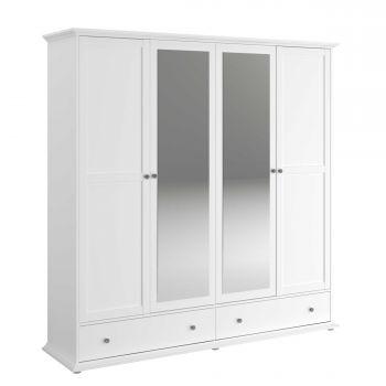Kledingkast Morgane 4 deuren - wit