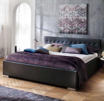 Bed Delphine 160x200 - zwart