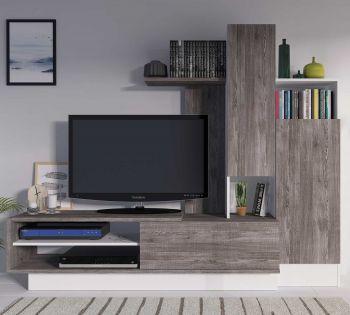 Tv-meubel Benno 200cm - grijs/wit