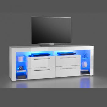 Tv-meubel Gazza 179cm met 4 lades - wit