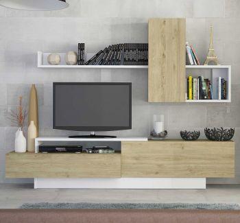 Tv-meubel Cosmit - eik/wit