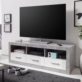 Tv-meubel Stanno 147cm - beton/wit