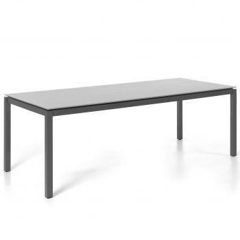 Tuintafel Albany 210x100 - zwart/grijs