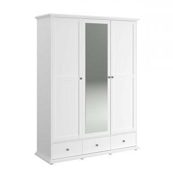 Kledingkast Morgane 3 deuren - wit