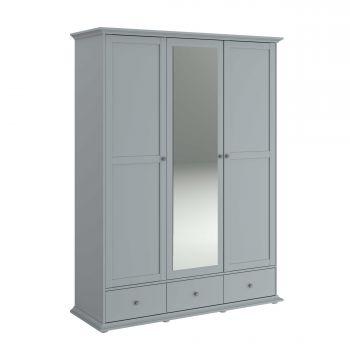Kledingkast Morgane 3 deuren - grijs