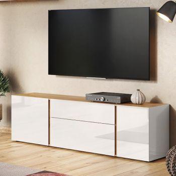 Tv-meubel Mussa 180cm - eik/kasjmier