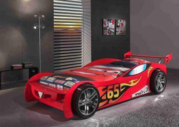 Lit voiture Le Mans - rouge