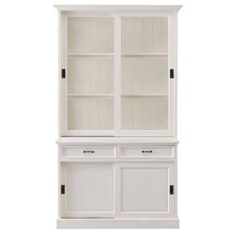 Vaisselier Vicenza à 4 portes & 2 tiroirs - blanc