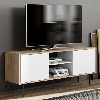 Tv-meubel Vibe - eik/wit